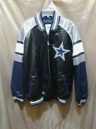 dallas cowboys giii apparel faux leather jacket size m for in carl banks