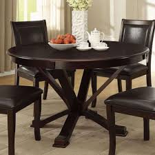 osbert round dining table in espresso