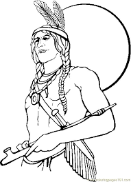 Native American Indian Coloring Pages At Getdrawingscom Free For