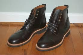jcrew 248 kenton leather cap toe boots 12 black f4446 mens