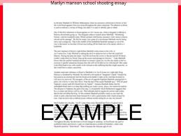 marilyn manson school shooting essay college paper service marilyn manson school shooting essay marilyn manson talks to larry king about being blamed for