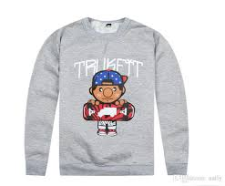 Fashion Free Shipping Trukfit Sweatshirts For Men Grey Black Men S Hoodies Pullover With Hats Hip Hop Wear