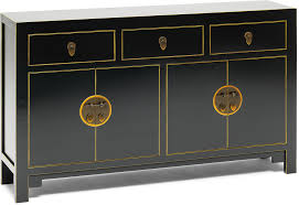 oriental inspired furniture. Large Classic Chinese Sideboard \u2013 Black Oriental Inspired Furniture R
