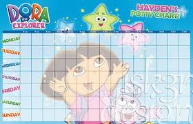 Personalized Dora Potty Chart By Isk3rdesign On Etsy