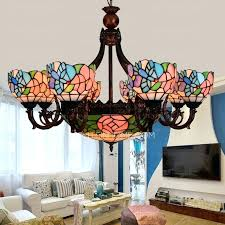 stained glass chandelier stained glass kitchen lighting stained glass chandelier
