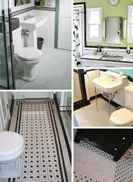 black and white bathroom tiles. Black And White Tile Bathrooms Done 6 Different Ways Retro With Bathroom Plan 5 Tiles