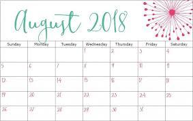 2018 August Calendar Printable – Daily Calendar 2018 Printable ...