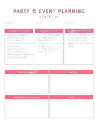 Event Planning Checklist Template Excel 9 Free Party Graduation Eve ...