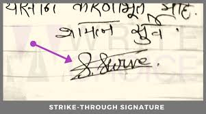 Ron's handwriting is completely illegible.• the label had got wet and was now illegible.• the check was signed by an officer of the bank whose first name was thomas; Signature Analysis 13 Types Of Signatures You Must Avoid