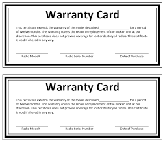 Guarantee Certificate Format New Warranty Letter Sampl As Guarantee