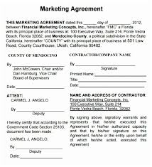 Beautiful Sample Marketing Agreement Template Collection - Example ...