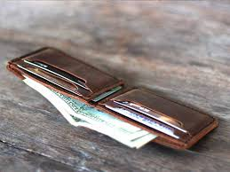 handmade exquisite leather bifold wallet gifts for men