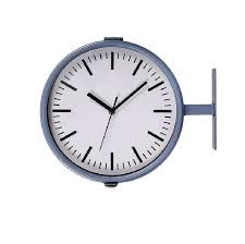 waterloo double sided outdoor clock and thermometer charcoal