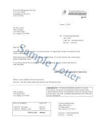 dept collection letter dunsdemand sample letters d b debt collection