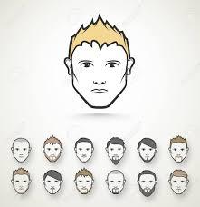 メンズ スタイル髪型髭 Eps 10のイラスト素材ベクタ Image 33033680