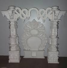 Thermocol Pillar Design Thermocol Makhar On Behance Background Decoration Pooja