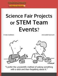 think back to your experience as a student what purpose would say your science fair project served according to stem teaching tools org following this