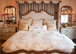 Pretty Romantic Bedroom With Hanging Bedside Chandeliers Over Nightstands  With Mirrors : Create A Romantic Bedroom