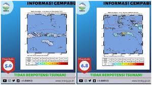 Tingkatkan upaya mitigasi gempabumi dan tsunami, kepala bmkg lakukan verifikasi peta rawan bencana di kulon progo. Info Gempa Hari Ini Bmkg Catat 5 Gempa Hingga Kamis Siang 4 Di Antaranya Terjadi Di Ambon Tribunnews Com Mobile