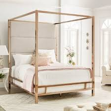 Means Upholstered Canopy Bed | Wayfair