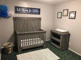 DIY Farmhouse Crib and Changing Table Free plans at 2