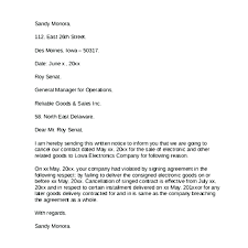 sample letter to terminate contract template cancellation contract template