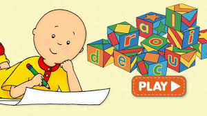 spell with caillou game for kids