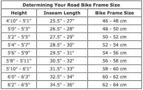 Bike Fitting Chart Bicycle Sizing Fundamentals