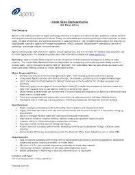 Cover Letter Inside Sales Rep Resume Inside Sales Representative