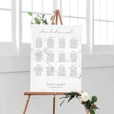 Etsy Wedding Seating Chart Marble Rose Gold Wedding Seating Chart Template Seating Chart Printable Wedding Seating Plan Editable Seating Chart Instant Download E039