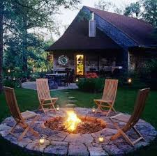 rustic fire pit. Backyard Fire Pit \u0026 Seating Area (source Unknown) Rustic H