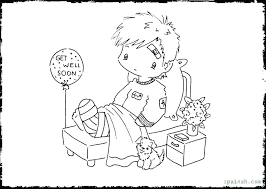 Get Well Coloring Pages Packed With Free Soon Cards Also Card Images