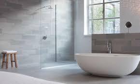 modern bathroom tile gray. Impressive Light Grey Wall Tiles With Bowl Tub For Modern Bathroom Decor Tile Gray