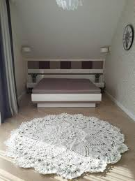 crochet rug with simple string