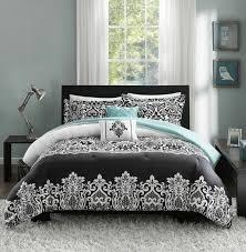 teal bedding comforter damask leopard