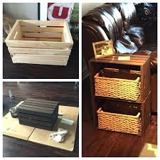 dog crate end table diy end table made from home depot wine crates diy dog crate dog crate end table diy