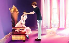 cute couple love fantasy anime hd wallpaper
