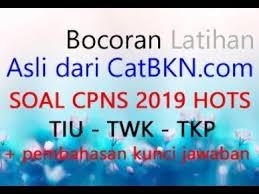 Terdapat juga latihan soal cpns sistem cat dan pdf lengkap. 30 Contoh Soal Tiu Twk Tkp Cpns 2019 Kumpulan Contoh Soal