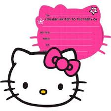Hello Kitty Invitation Printable Hello Kitty Invitation For Birthday Party On Popscreen