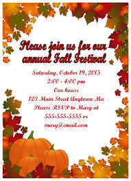 Fall Festival Party Invitations Style 4 Crafty Chick Designs