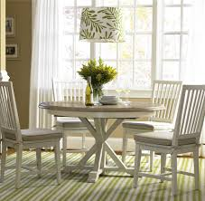 white coastal furniture. Coastal Beach White Oak Round Expandable Dining Table 54\ Furniture