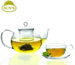 sun s tea glass teapot
