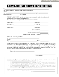3 Days Pay Or Quit Form 26 Printable Three Day Notice To Pay Rent Or Vacate Forms