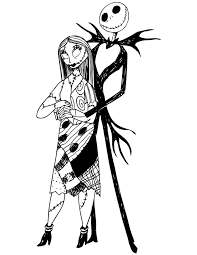 Small Picture The Nightmare Before Christmas Jack and Sally Coloring Page