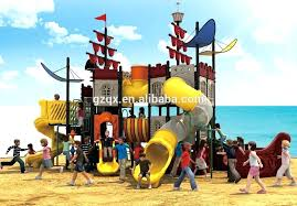 huge outdoor pirate ship toy playground equipment wood playhouse