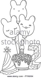 Festa Di Compleanno Per Bambini Cartoni Animati In Bianco Nero