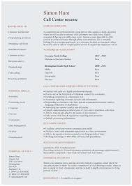 Cv Template Samples Call Center Resume Sample No Experience Outstanding Student Cv