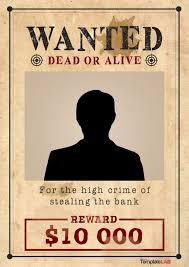 Old Wanted Poster Template Affordable Presentation Background Samples