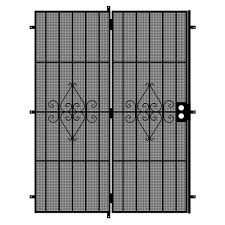 black metal screen doors. Unique Home Designs Su Casa 72 In. X 80 Black Projection Mount Outswing Metal Screen Doors O