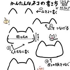 メッチャ簡単な猫のイラストの書き方 ポケットの中のアルバム